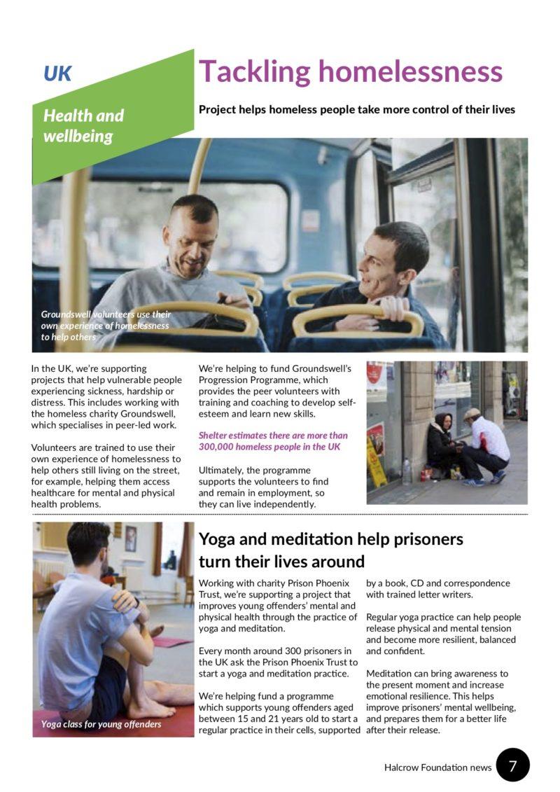 Halcrow Foundation newsletter