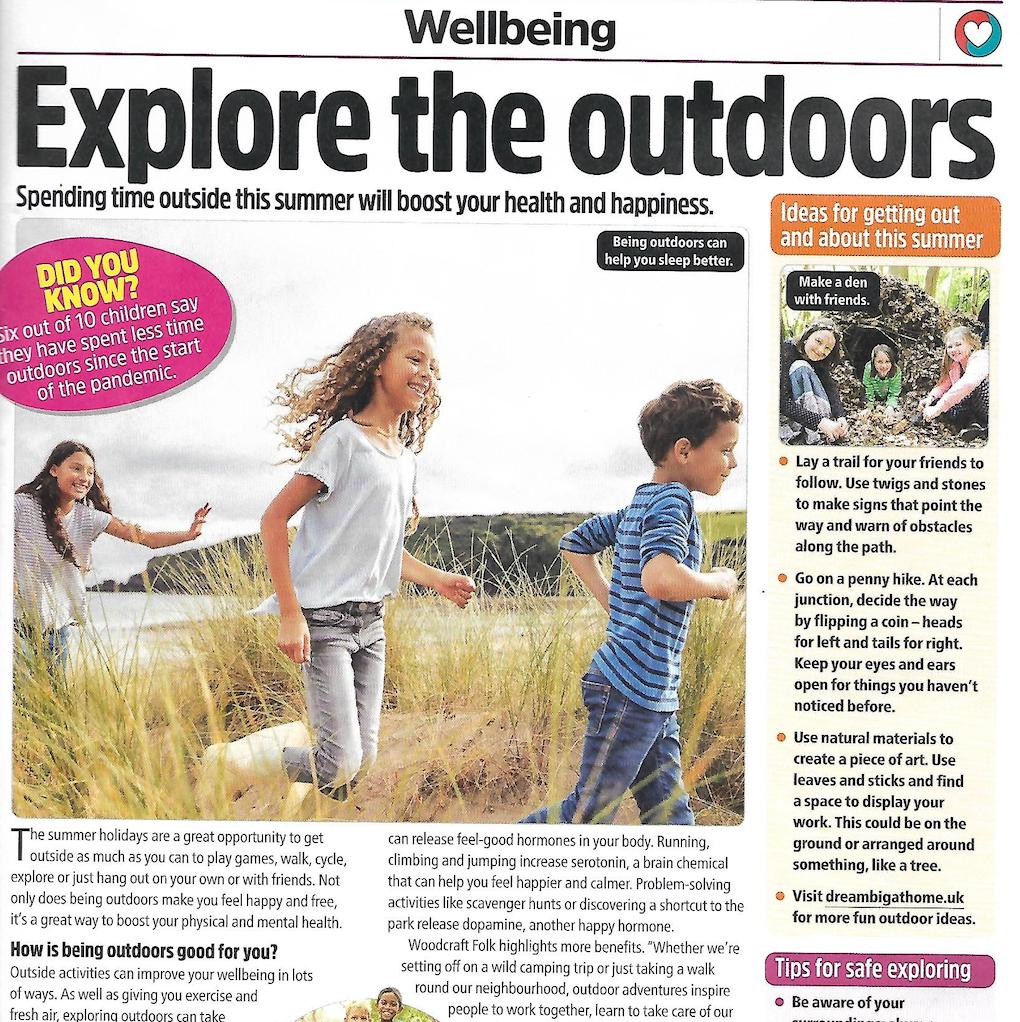 The Week Junior wellbeing feature about getting outdoors