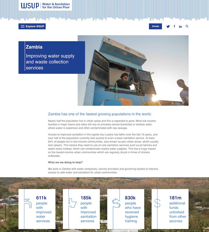 WSUP website content